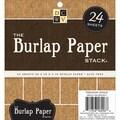 Burlap Covered Cardstock Paper Stack 6