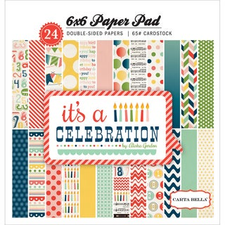 """It's A Celebration Cardstock Pad 6""""X6"""" 24/Sheets-Double-Sided"""