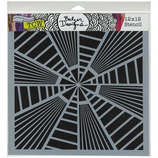"Crafter's Workshop Template 12""X12""-Stripes Explosion"