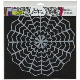 """Crafter's Workshop Template 12""""X12""""-Web Doily"""