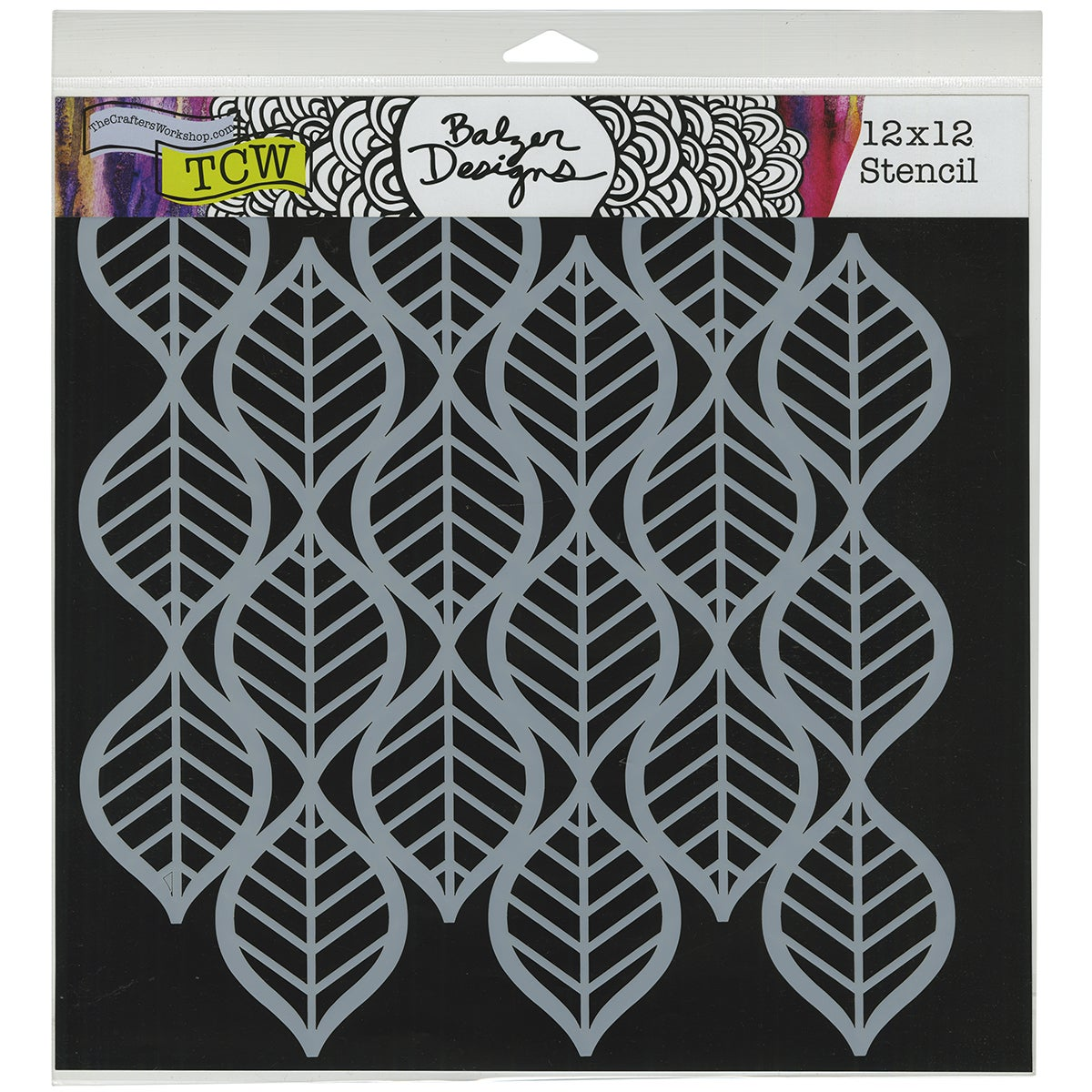 "Crafter's Workshop Template 12""X12""-Art Deco Leaves"
