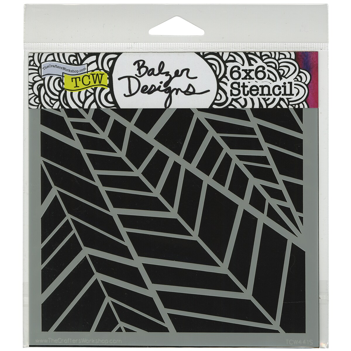 "Crafter's Workshop Template 6""X6""-Palms"