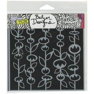 "Crafter's Workshop Template 6""X6""-Stick Flowers"