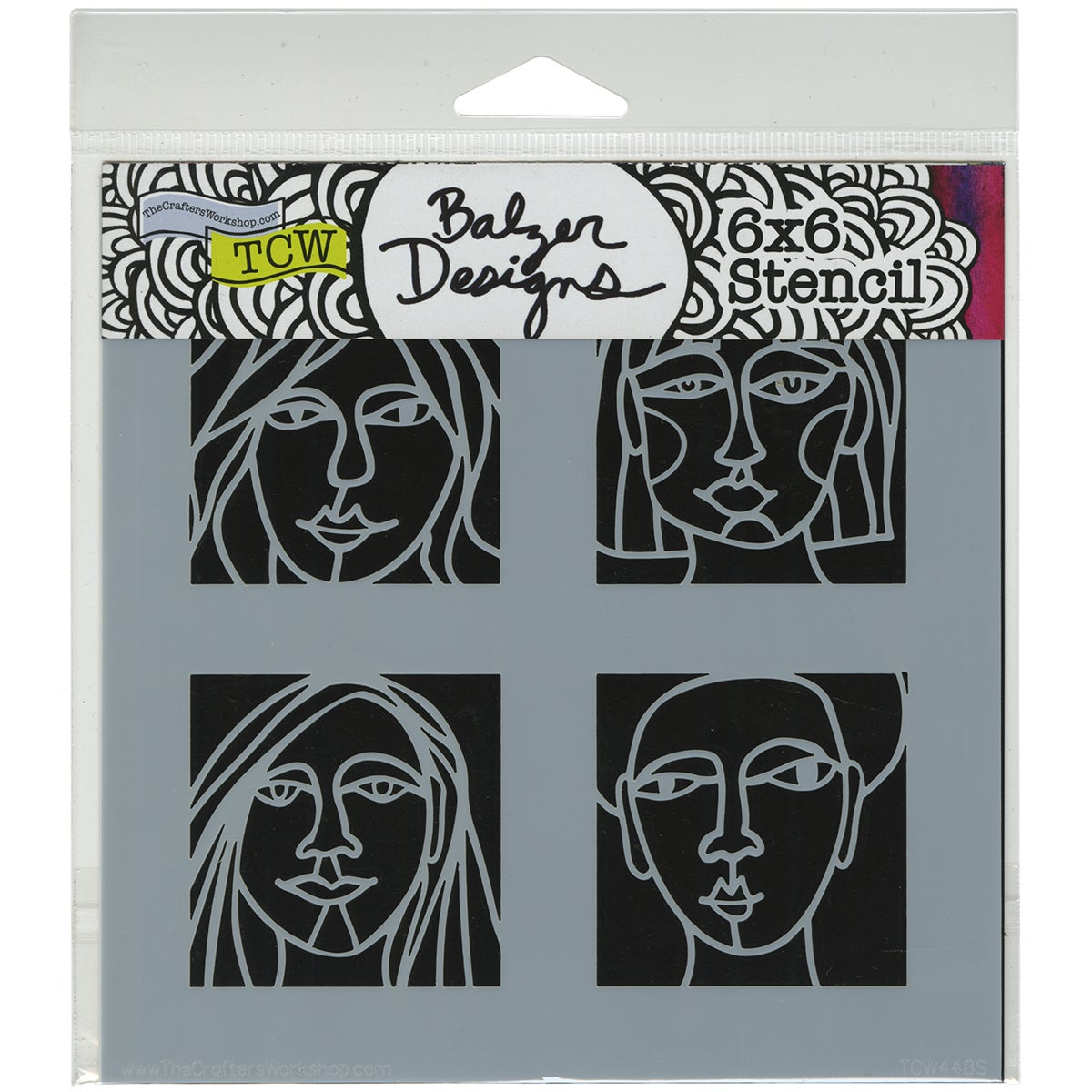 "Crafter's Workshop Template 6""X6""-4 Faces"