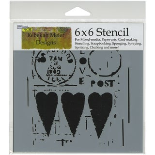 "Crafter's Workshop Template 6""X6""-Love Post"
