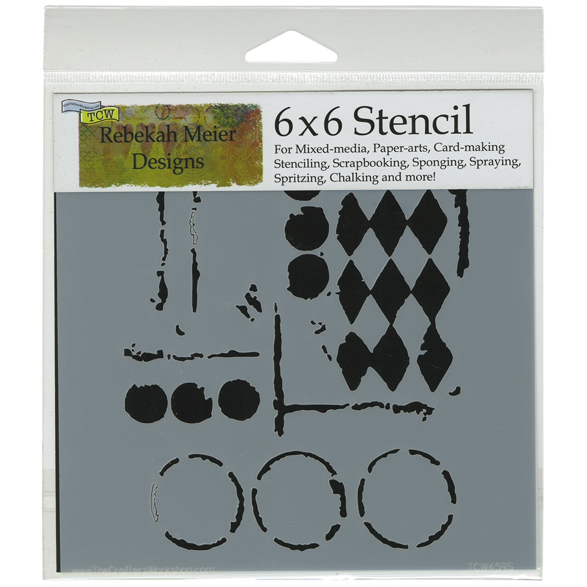 "Crafter's Workshop Template 6""X6""-Harlequin Circles"