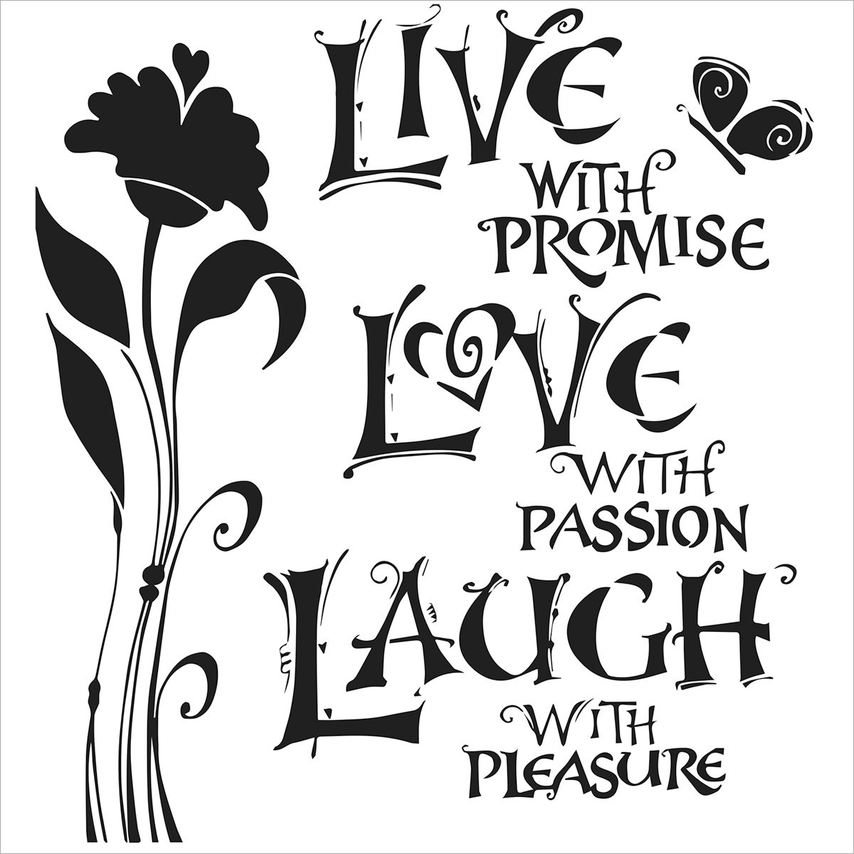 "Crafter's Workshop Template 6""X6""-Live, Love & Laugh"
