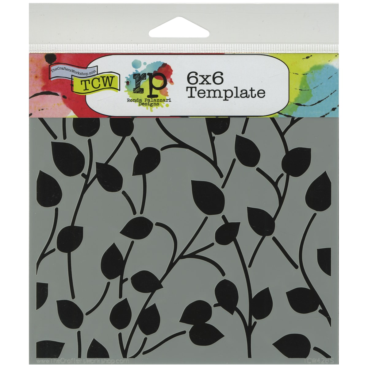 "Crafter's Workshop Template 6""X6""-Climbing Vine"