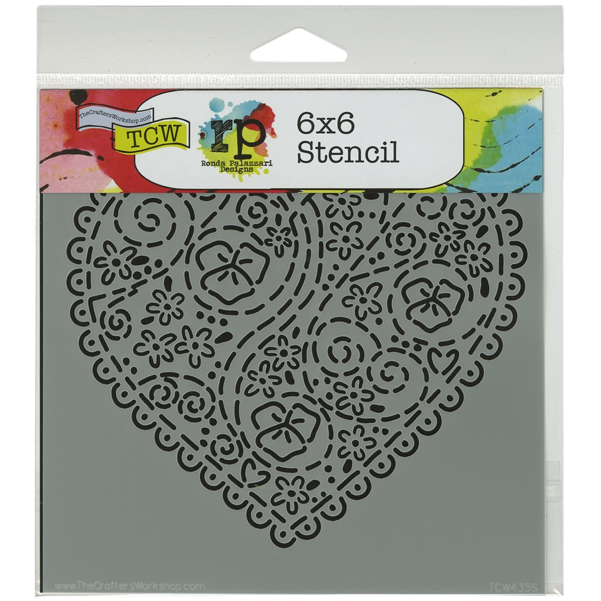 "Crafter's Workshop Template 6""X6""-Embroidered Heart"