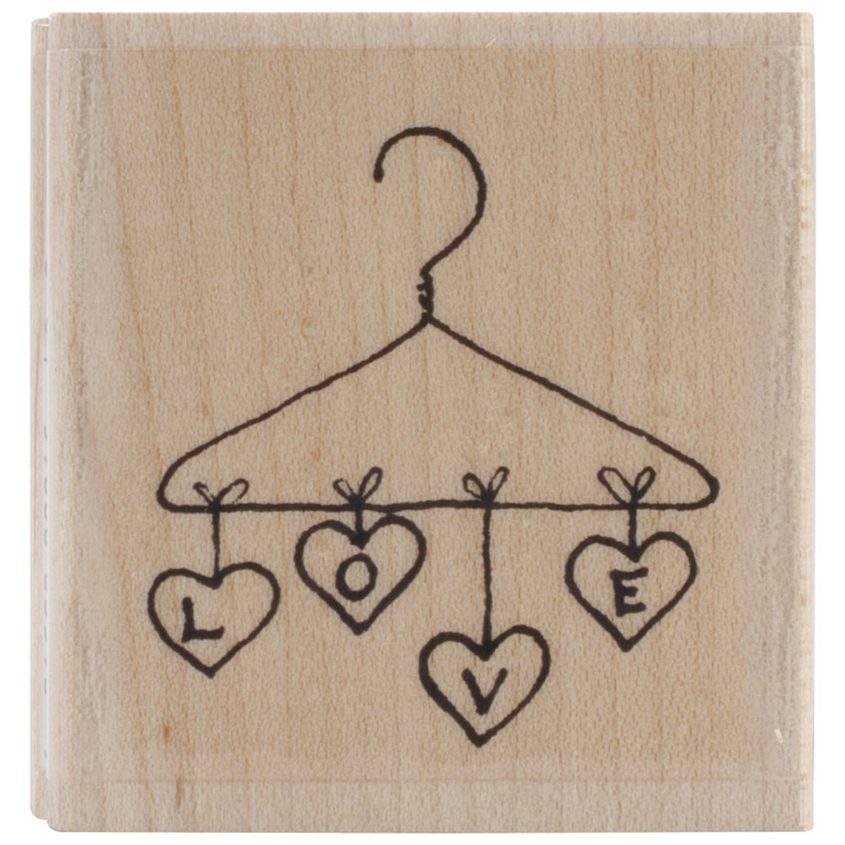 "Penny Black Mounted Rubber Stamp 1.75""X1.75""-Love Hanging"