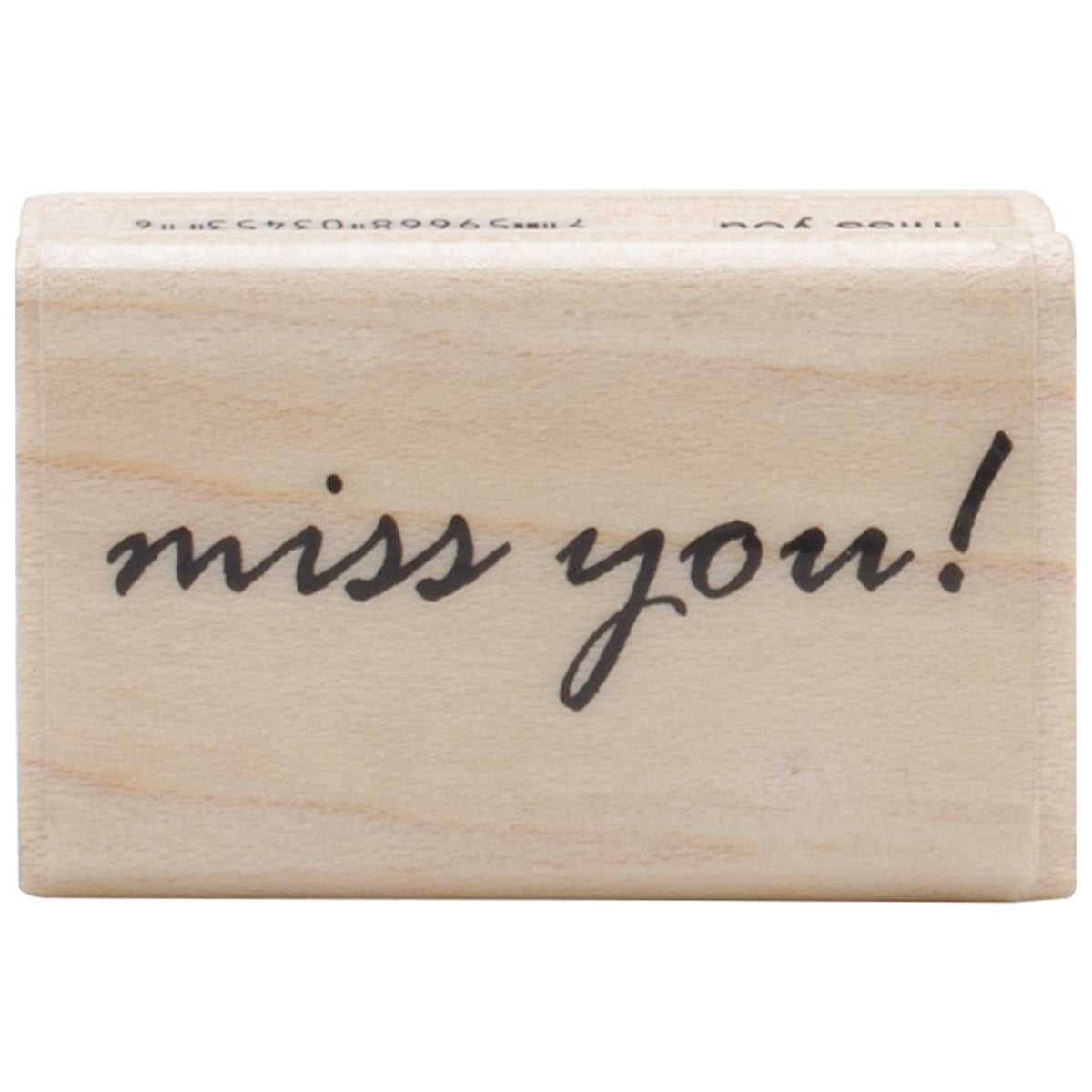 "Penny Black Mounted Rubber Stamp 1""X1.5""-Miss You"