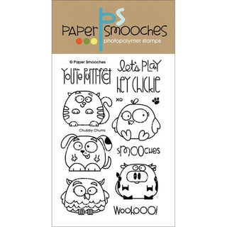 "Paper Smooches 4""X6"" Clear Stamps-Chubby Chums"
