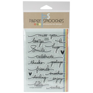 "Paper Smooches 4""X6"" Clear Stamps-Scripty Sayings"