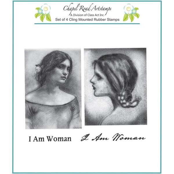 "Chapel Road Cling Mounted Rubber Stamp Set 5.75""X6.75""-Waterhouse Women"