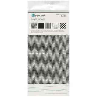 "Shape 'n Tape Washi Sheets 6""X12"" 5/Pkg-Black"