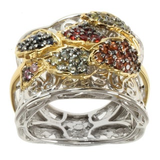 Michael Valitutti Two-tone Multi Sapphire Ring