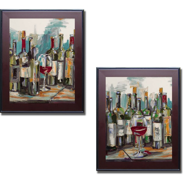 Heather French-Roussia 'Uncorked I and II' Framed 2-piece Canvas Art Set