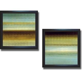 Randy Hibberd 'Beauty in Blue I and II' 2-piece Canvas Art Set