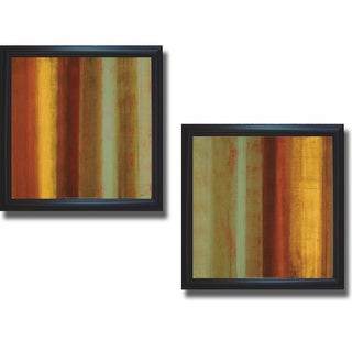 Randy Hibberd 'Color of Nature I and II' Framed 2-piece Canvas Art Set