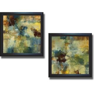Randy Hibberd 'Skyliner I and II' Framed 2-piece Canvas Art Set