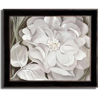 Georgia O'Keeffe 'The White Calico Flower' Framed Canvas Art