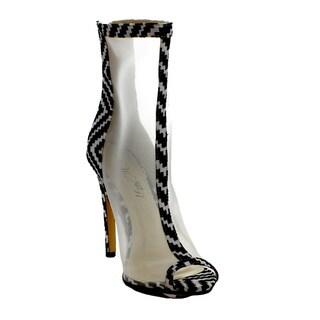 Wildrose Women's 'GISELLE01B' Back Zipper Stiletto Ankle Bootie Shoes