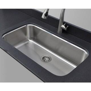 Wells Sinkware 18 Gauge Single Bowl Undermount Stainless Steel Kitchen Sink Package