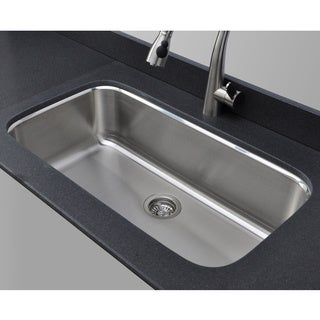Wells Sinkware 18 Gauge Single Bowl Undermount Stainless Steel Kitchen Sink Package