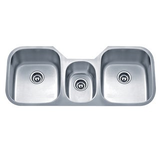 Wells Sinkware 18 Gauge Undermount Triple-Bowl Stainless Steel Kitchen Sink Package