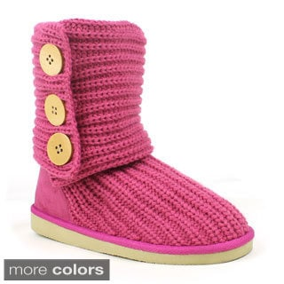 Mark & Maddux Women's 'Tom-05' Yarn-knitted Button Boots