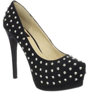 Toi et Moi Women's 'Daisy-06A' Studded Upper Platform Heels