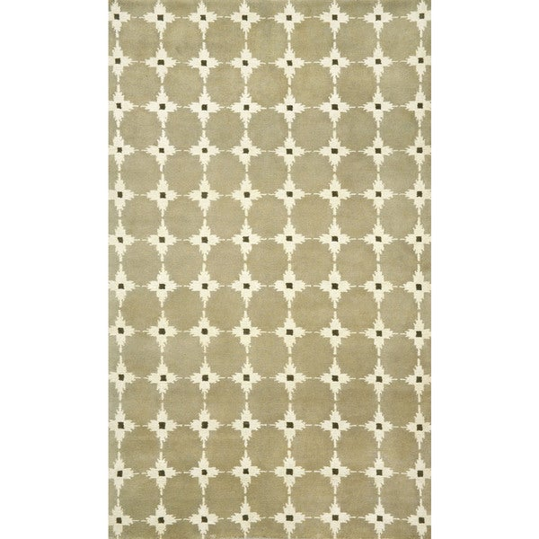 Boxes Neutral Indoor Rug (8' x 10')