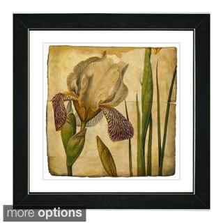 Zhee Singer 'Vintage Botanical No 42 - Antiqued' Framed Fine Art Print