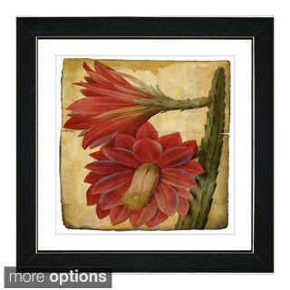 Zhee Singer 'Vintage Botanical No 25 - Antiqued' Framed Fine Art Print