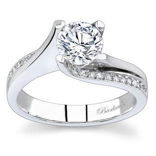 Barkev's Designer 14k White Gold 1 1/6ct TDW Diamond Ring (F-G, SI1-SI2)