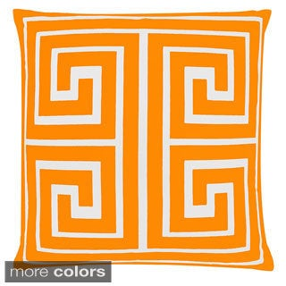 Contemporary Large Greek Key Square Throw Pillow