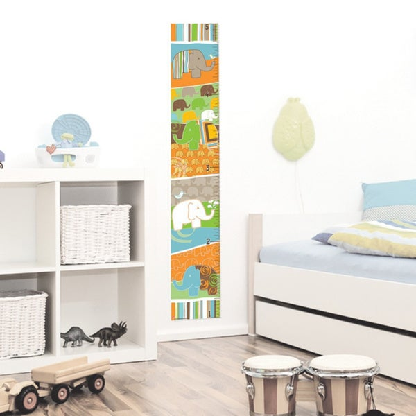 Peel & Stick Elephant Boy Growth Chart