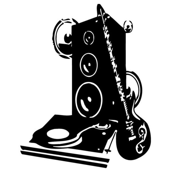 Music Speakers Tools Vinyl Wall Art