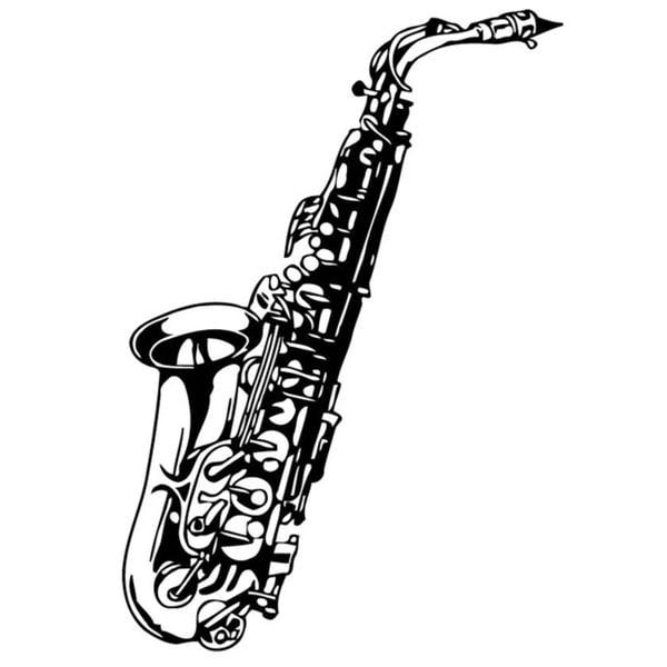 Saxophone Music Vinyl Wall Art