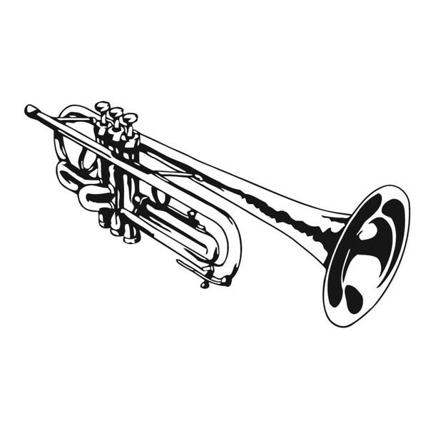 Trumpet Music Vinyl Wall Art