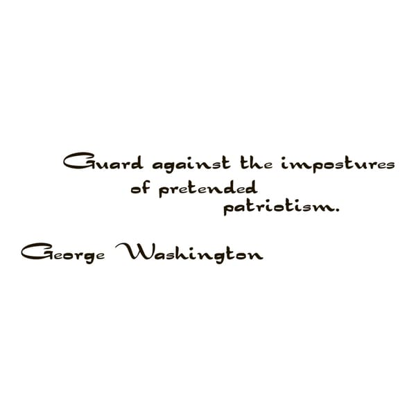 George Washington Quote Vinyl Wall Art