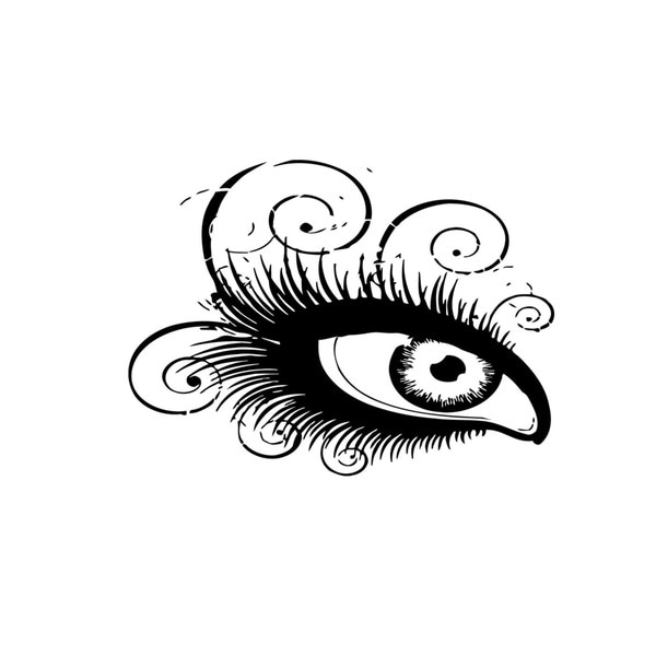 Eye Lashes Vinyl Wall Art