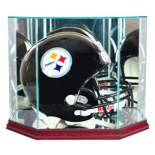 Cherry Finish Octagon Football Helmet Display Case