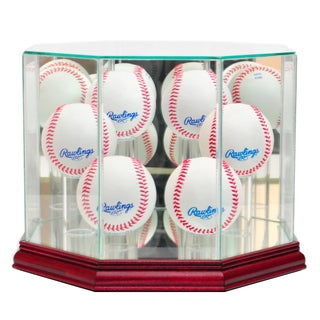 Perfect Cases Cherry Finish 6 Baseball Display Case