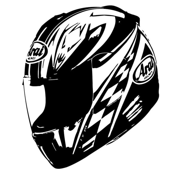 Racing Helmet Vinyl Wall Art