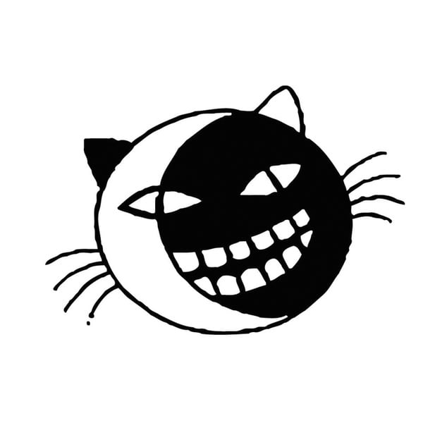 Funny Cat Face Vinyl Wall Art