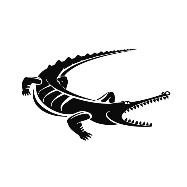 Crocodile Vinyl Wall Art