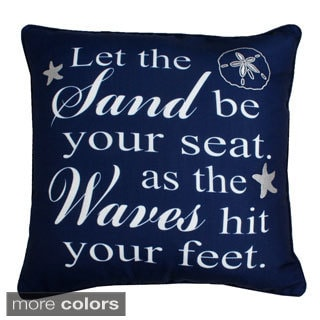 'Let The Waves' Coastal Feather Fill Throw Pillow - Multiple Colors