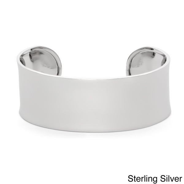Gioelli Sterling Silver Polished Bold Bangle