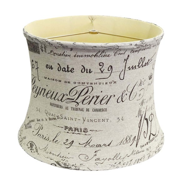 French Script Lamp Shade